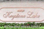 Keystone Lake community sign